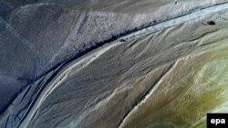 نمایی از صحرای وسیع آتاکامای شیلی