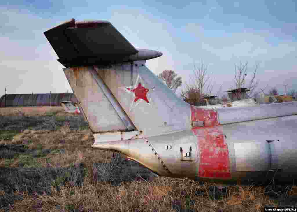 The Soviet star on the tail of a Dolphin jet. The combined value of the aircraft and airfield has been estimated at around $1.8 million.