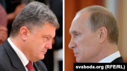 Belarus - Petro Poroshenko and Vladimir Putin, photo collage, 3Sep2014