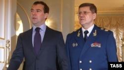 Юрий Чайка и Дмитрий Медведев