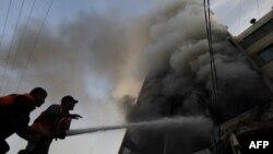 غزه روز دوشنبه پس از حمله هوایی اسرائیل