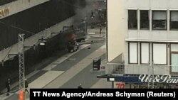 Imagine a atacului terorist de la Stockholm la 7 aprilie