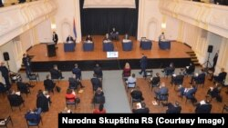 Sjednica Skupštine RS u Banskom dvoru, 28. mart 2020.