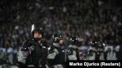 Policija na Partizanovom stadionu pred početak utakmice, ilustrativna fotografija