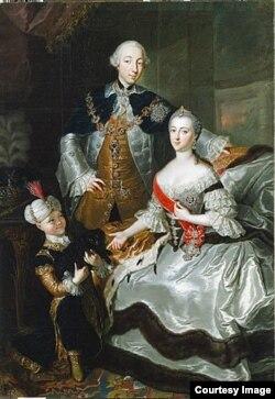 Анна Розина де Гаск. Великий князь Петр Федорович и великая княгиня Екатерина Алексеевна. 1756