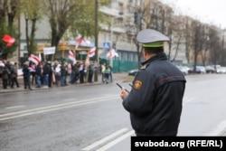 Міліція стежить за ходою «Дзяди». Мінськ, Білорусь, 3 листопада 2019 року
