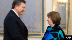 Віктор Янукович і Катрін Аштон