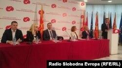 Скопје-претседателот на СДСМ Зоран Заев ја презентира програма на новата влада, 10.03.2017