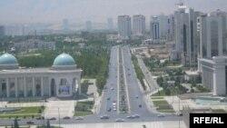 Տեսարան Թուրքմենստանի մայրաքաղաք Աշգաբատից, արխիվ