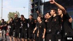 Пречек на македонските кошаркарски репрезентативци
