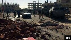 Напади на єгипетських силовиків на Синаї стаються регулярно, на фото наслідки одного з попередніх нападів, у січні