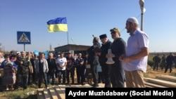 Активисты на админгранице с Крымом, 20 сентября 2015 года