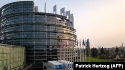 Sediul Parlamentului European de la Strasbourg, Franța.