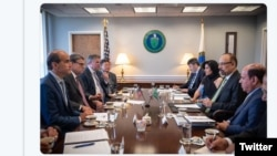 خالد الفالح و هیات عربستانی با ریک پری در واشینگتن دیدار کردند.