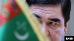 Turkmen President Gurbanguly Berdymukhammedov during a meeting with the Russian foreign minister in Ashgabat in January.