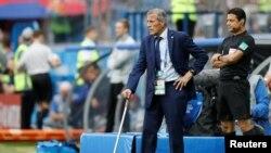 Главный тренер сборной Уругвая по футболу Оскар Табарес на чемпионате мира.