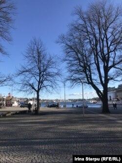 Stockholm, centrul orașului, 27 martie 2020