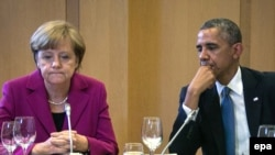 Канцлер Німеччини Анґела Меркель та президент США Барак Обама