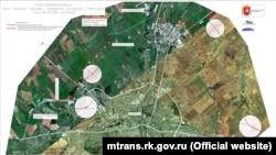 Схема трассы «Таврида» в Крыму