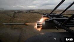 Pamje e një helikopteri ushtarak të Rusisë