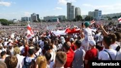 Բելառուս - Օգոստոսի 16-ի բողոքի ցույցը Մինսկում