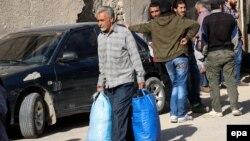 Эвакуация из восточных районов Дамаска, май 2017 года