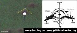 Метод вивчення воронки від обстрілу під малим кутом піднесення снарядами з малим уповільненням детонації