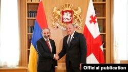 Никол Пашинян с президентом Грузии Георгием Маргвелашвили