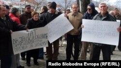 Протест на штедачи од штедилницата ТАТ во Битола.