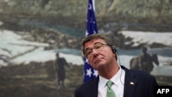 "U.S. Defense Secretary Ash Carter has accused Russia of ""nuclear saber-rattling."""
