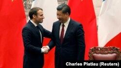 Ֆրանսիայի նախագահ Էմանյուել Մակրոն և Չինաստանի նախագահ Սի Ծինփին, արխիվ