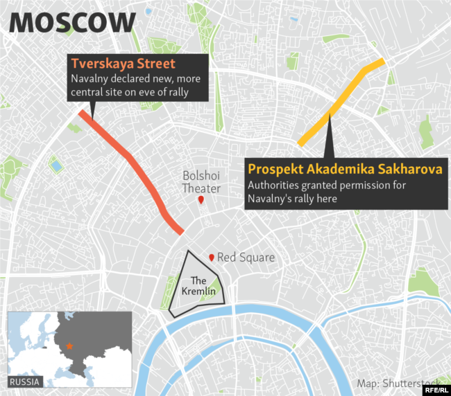 Navalny Jailed More Than Detained At Protests In Russia - Us news today president protesters map