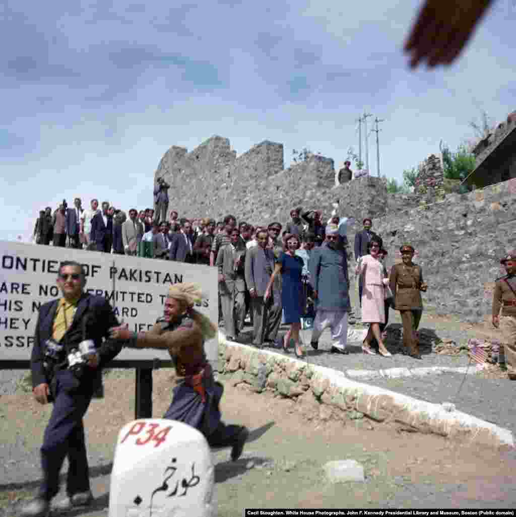 "The first lady visits the Khyber Pass, near the Pakistan-Afghan border. During this outing, Clint Hill says tribesmen intended to ""sacrifice"" a lamb in front of the animal-loving first lady as a sign of respect. Hill intervened and ordered a colleague to ""guard that lamb with your life"" until Kennedy had left."