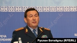 Министр внутренних дел Калмуханбет Касымов. 14 июня 2016 года.