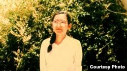 شکوفه سخی چند روز پس از آزادی در سال ۶۹