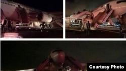 فرود اضطراری بوئینگ حامل زائران ایرانی در مدینه. ۱۵ دی ۱۳۹۲ - ۵ ژانویه ۲۰۱۴.