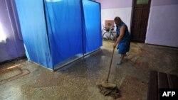 Адзін выбарчыў участкаў у Данецкай вобласьці