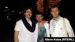 Volunteer doctors (left to right) Cagatay Nuhoglu, Halit Alvet Guner, and Gorkem Godaelioglu rely on the app to target aid to the protesters.