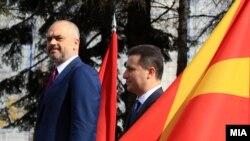 Албанскиот премиер Еди Рама во посета на Македонија.