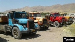 Rusty old western Trucks in Iran.