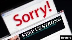 """""""Викиликс"""" сайтынын негиздөөчүсү Жулиан Ассанждын аталган сайттагы сүрөтү."""