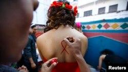 Акция трансгендеров Непала в защиту своих прав