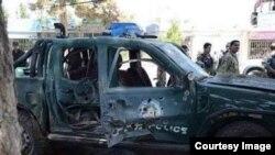 Портлатилган полиция автомобили