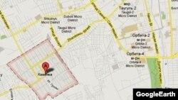 Фрагмент карты Алматинской области. Алматы, 12 июля 2012 года.