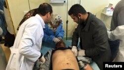 Повредено лице од нападот на полициски тренинг центар во Либија.