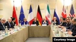 Учасники переговорів про ядерну програму Тегерана, Лозанна, 30 березня 2015 року