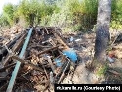 Вывезенные в лес дома в Чалне