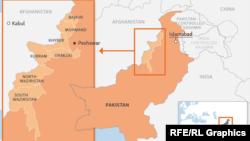 Hartë e zonave fisnore në Pakistan.