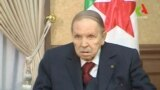 ALGERIA -- Algerian President Abdelaziz Bouteflika looks on during a meeting with army Chief of Staff Lieutenant General Gaid Salah in Algiers, Algeria, in this handout still image taken from a TV footage released on March 11, 2019.