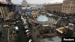 Pamje nga qendra e Kievit në Ukrainë